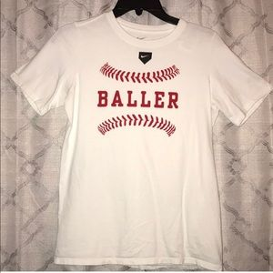 Red and white nike t- Shirt